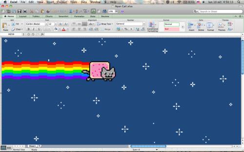 Excel Spreadsheet Art
